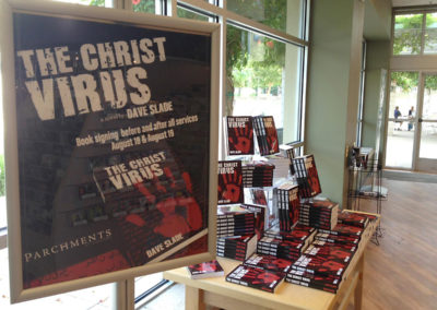 Dave-Slade-The-Christ-Virus-Books-On-Display